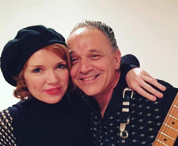 With Jimmie Vaughan
